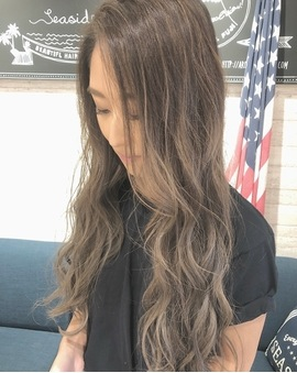 かきあげ前髪 立体的カラー 02