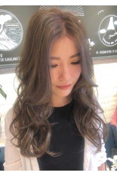 かきあげ前髪 立体的カラー